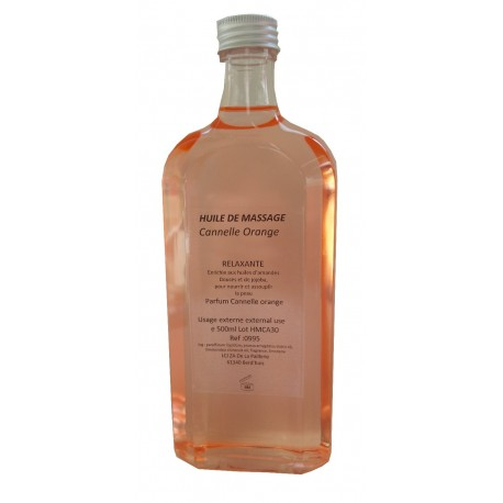 Huile de massage adoucissante Cannelle Orange - 500 ml