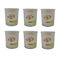 TOPAZ - Lot de 6 pots de cire à épiler tiède 800 ml