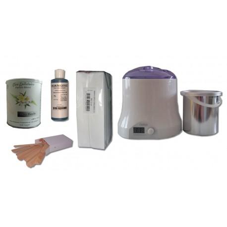 Cid Epil. Kit épilation NACREE BLANCHE Pot 800 ml Cire jetable
