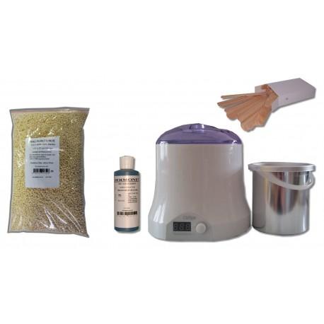 Cid Epil. Kit épilation 800 ml - Cire Pelable Blanche 1 kg Perles