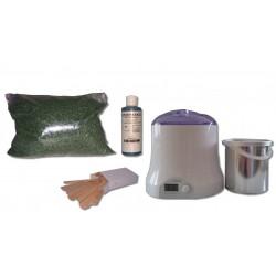 Cid Epil. Kit épilation 800 ml - Cire traditionnelle Verte 1 kg Perles