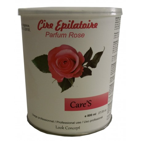 Pot 800 ml - CARE'S ROSE - Cire à épiler jetable