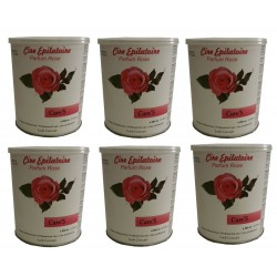 CARE'S ROSE - 6 pots de cire à épiler jetable