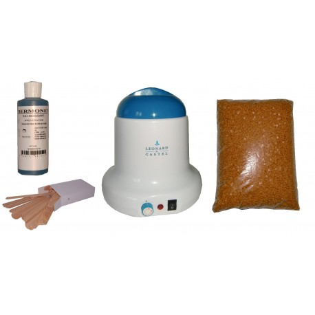 Kit épilation 800ml - Cire Pelable Blonde 1 kg Pastilles