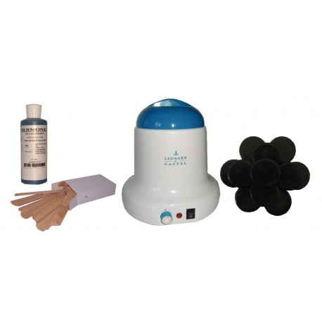 Kit épilation 800 ml - Cire Tradit. 1 kg Galets Epilom
