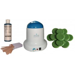 Kit épilation 800 ml - Cire traditionnelle 1 kg galets Verte
