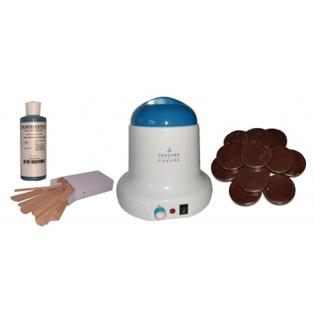 Kit épilation 800 ml - Cire Traditionnelle 1 kg Galets Chocolat