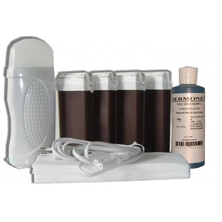 Kit épilation 4 x100 ml - CHOCOLAT - Cire à épiler