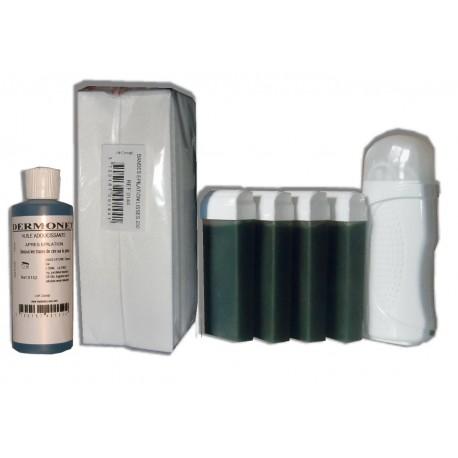 Kit Epil 4 x 100 ml - CHLOROPHYLLE - Cire à épiler