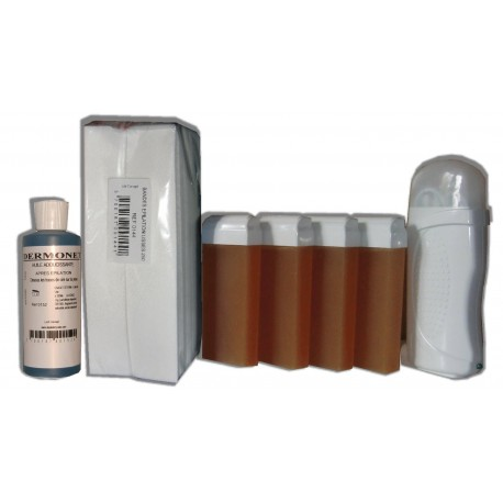 Kit Epil - Chauffe cire - MIEL 4 x 100 ml