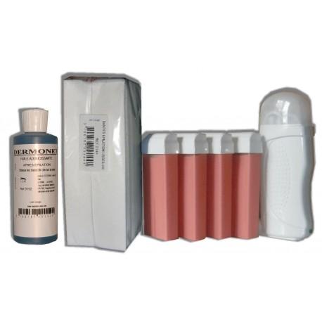 Kit Epil 4 x 100 ml - ROSE - Cire à épiler