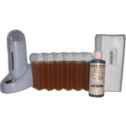 Topaz type miel - NEO - Kit épilation 6 x 100ml cire roll-on
