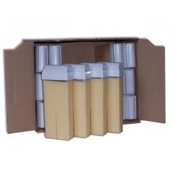 Pack 24 x 100 ml, cire nacrée blanche