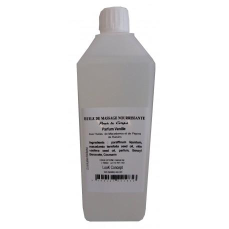 Vanille - 1 litre Huile de massage nourrissante