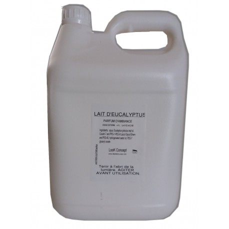 Eucalyptus. 5 litres Lait pour diffuseur d'ambiance Hammam