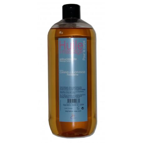 Huile de massage adoucissante Canelle, Orange, 1 litre