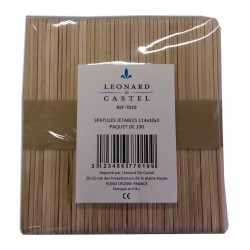 100 Spatule bois pour le visage - Léonard de Castel