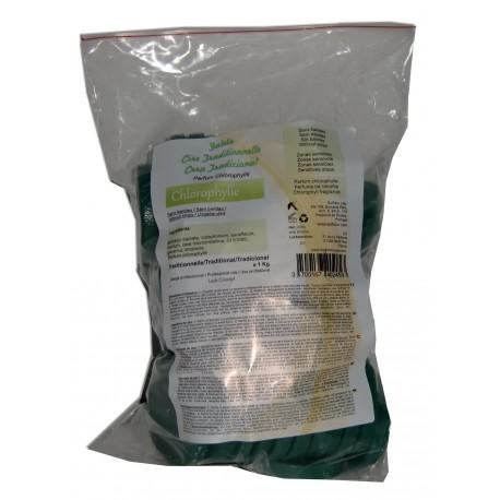 Galets de cire traditionnelle 1 kg Verte