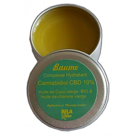 Baume hydratant pour les lèvres à l'huile de chanvre