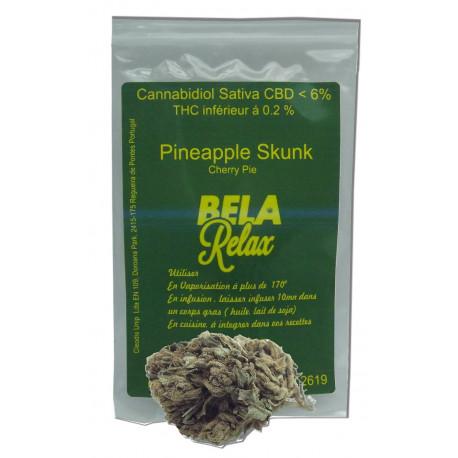 Pineapple Skunk de l'ananas dans le Cherry Pie Fleurs CBD Outdoor