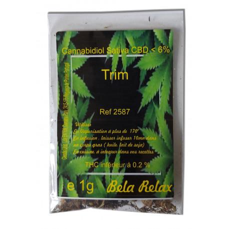 Trim Premium 1g. Mélange de fleurs CBD