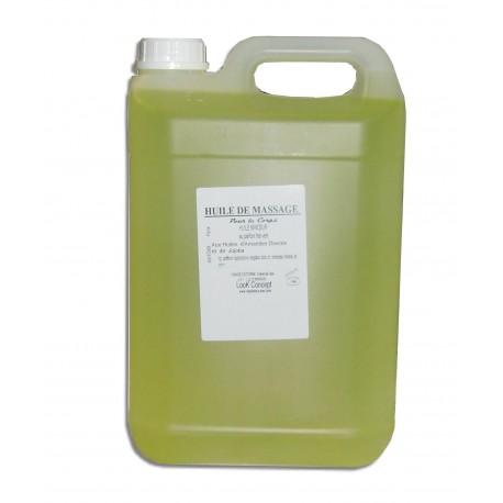 Huile de massage adoucissante, 5 L ,Thé vert