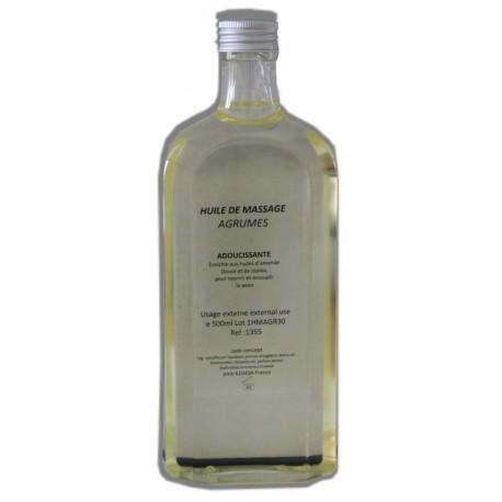 Adoucissante - Agrumes - Huile de massage - 500 ml
