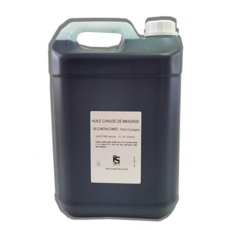 Décontractante - Eucalyptus - Chaude - 5 litres - Huile de massage