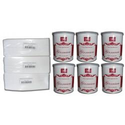 Pack BES - Pots cire à épiler 800 ml - Géranium